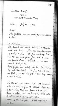 William Waugh's case notes