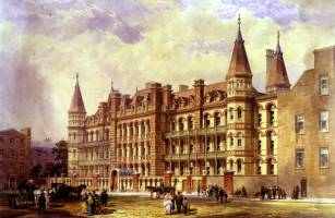 The new building was constructed from 1871-75 along Powis Place