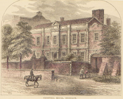 The Frontage of Cromwell House c1876