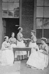 A group of nurses c1871