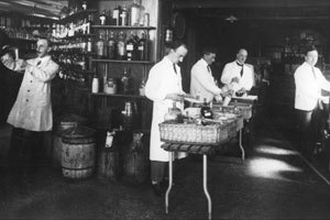 Wycliffe Peck and the Pharmacy Dept – early 20th Century
